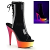 RAINBOW-1018UV-6 Black Patent/Neon Multi